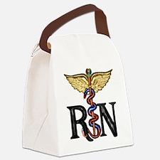 Caduceus_rn1.png Canvas Lunch Bag