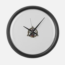 Dentistry Caduceus.png Large Wall Clock