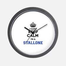 I can't keep calm Im STALLONE Wall Clock