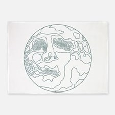 face in the moon 5'x7'Area Rug