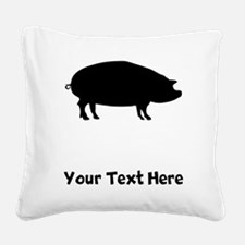 Pig Square Canvas Pillow