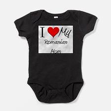 Funny I love romanian boys Baby Bodysuit