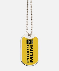 U.S. Army: Proud Mom (Gold) Dog Tags