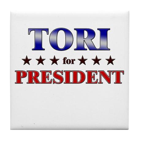 TORI for president Tile Coaster