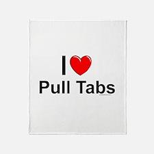 Pull Tabs Throw Blanket