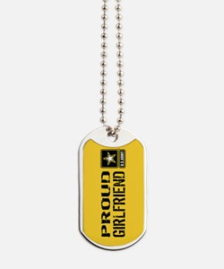 U.S. Army: Proud Girlfriend (Gold) Dog Tags