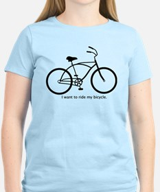 I want to ride my bicycle. T-Shirt
