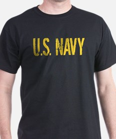 U.S. Navy: Gold Stencil T-Shirt