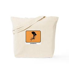 Swimming (orange) Tote Bag