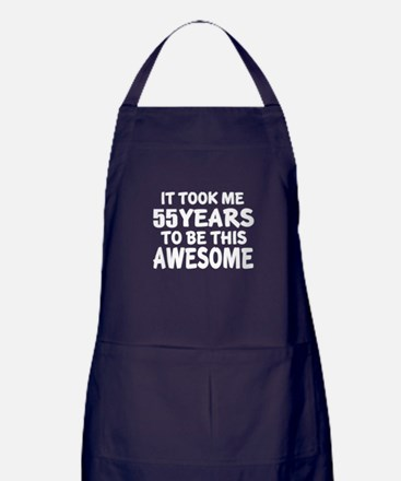 55 Years To Be This Awesome Apron (dark)