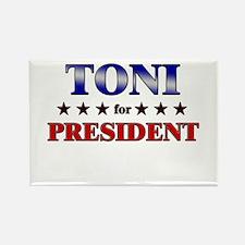 TONI for president Rectangle Magnet