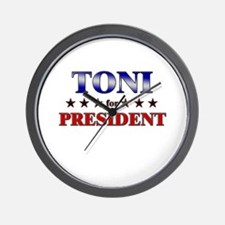 TONI for president Wall Clock