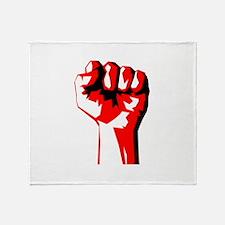 Power Fist Throw Blanket