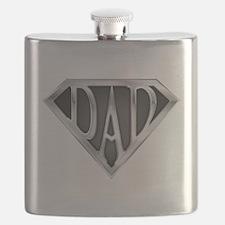 Chrome Super Dad Flask