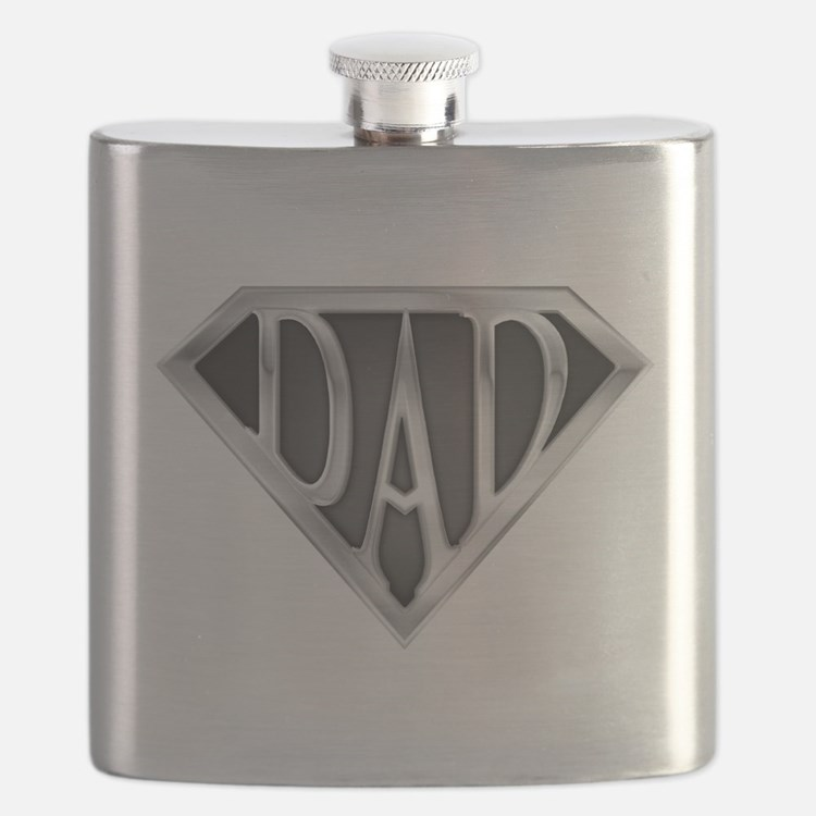 Chrome Super Dad Flask