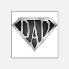 "Chrome Super Dad Square Sticker 3"" x 3"""