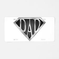 Chrome Super Dad Aluminum License Plate