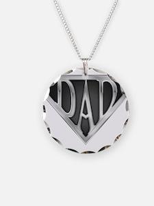 Chrome Super Dad Necklace