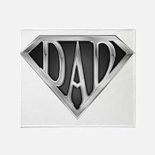 Chrome Super Dad Throw Blanket