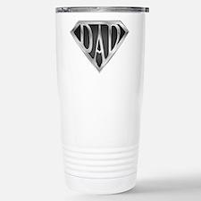 Chrome Super Dad Stainless Steel Travel Mug