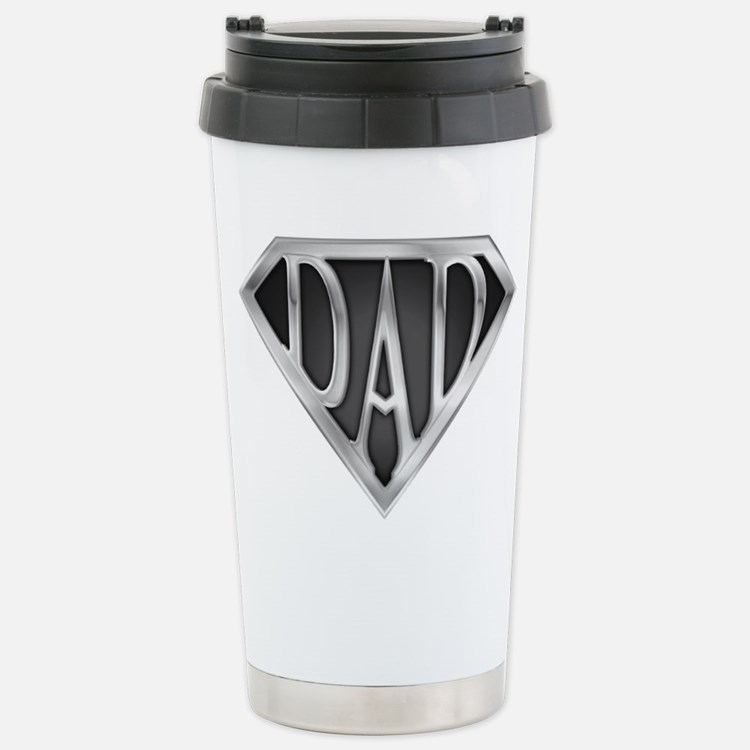 Chrome Super Dad Travel Mug