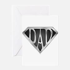 Chrome Super Dad Greeting Card