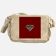 Super Dad with Red Background Messenger Bag
