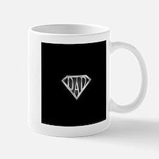 Super Dad with Black Background Mug