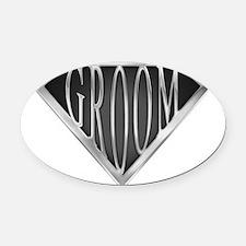spr_groom_cx.png Oval Car Magnet