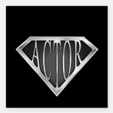 """spr_actor_cx.png Square Car Magnet 3"""" x 3"""""""