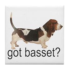 got basset? Tile Coaster - Tri-color
