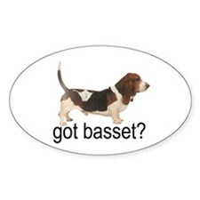 got basset? Oval Sticker - Tri