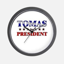 TOMAS for president Wall Clock