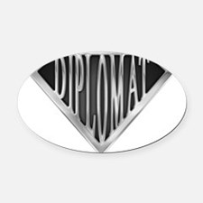 spr_diplomat_chrm.png Oval Car Magnet
