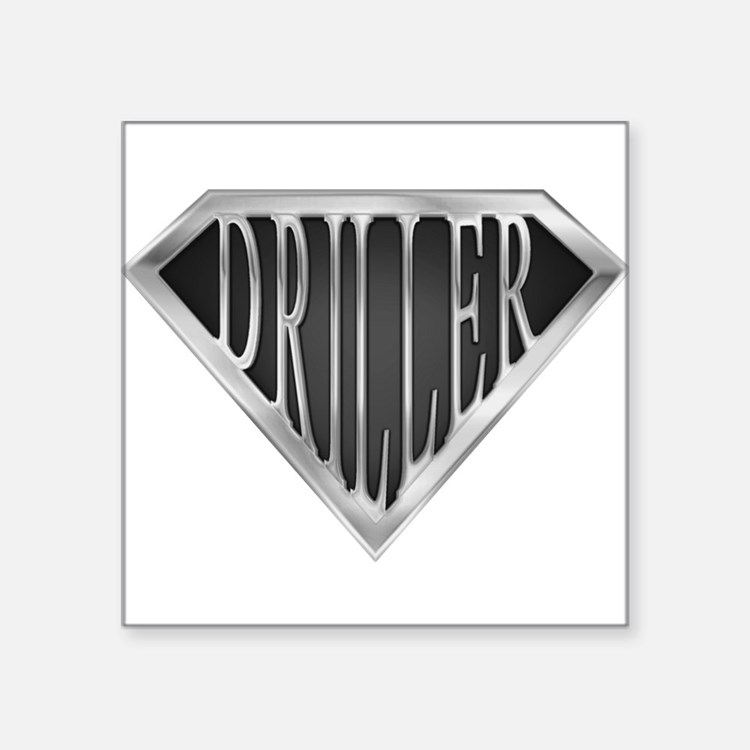 "spr__driller_cx.png Square Sticker 3"" x 3"""