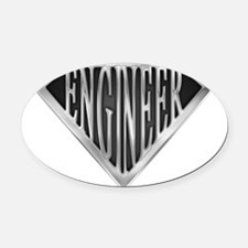 spr_engineer_chrm.png Oval Car Magnet