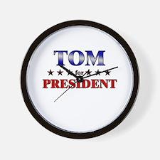 TOM for president Wall Clock