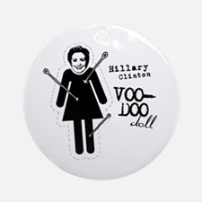 Hillary Clinton Voodoo Doll Ornament (Round)