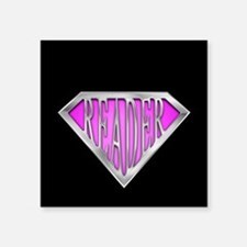 """spr_reader_xpnk.png Square Sticker 3"""" x 3"""""""