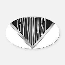 spr_gymnast_chrm.png Oval Car Magnet