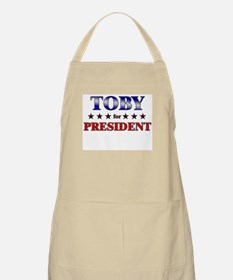 TOBY for president BBQ Apron