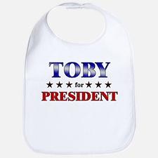 TOBY for president Bib