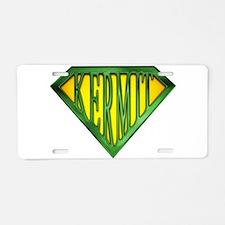 SuperKermit(Green) Aluminum License Plate