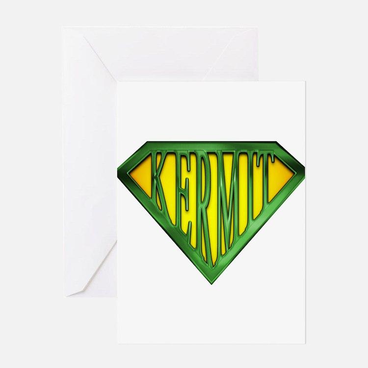 SuperKermit(Green) Greeting Card