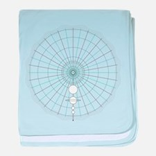 solar circle baby blanket