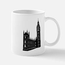 World famous Big ben building silhouette Mugs