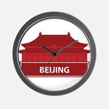 National landmark Beijing silhouette Wall Clock