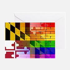 Cool Maryland flag Greeting Card