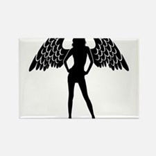 Angel with wings silhouette Magnets