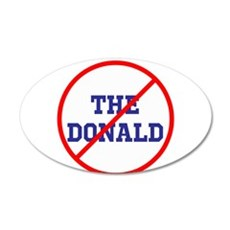 No Trump, anti the donald Wall Decal